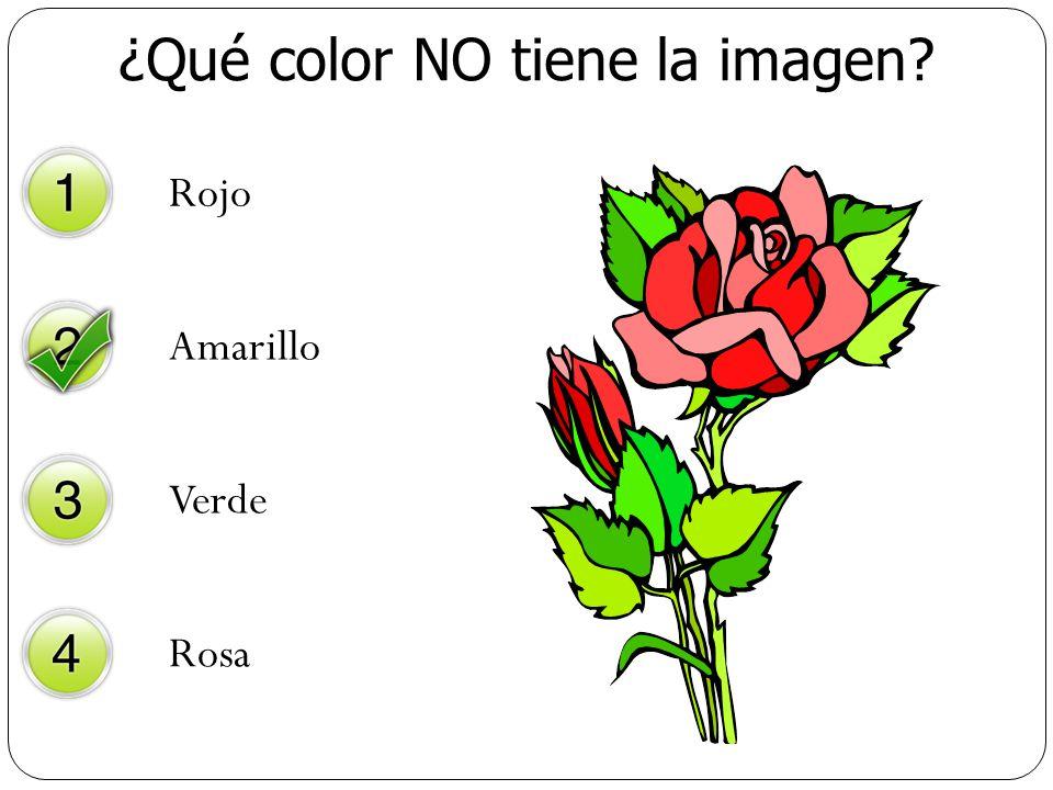 ¿Qué color NO tiene la imagen? Rojo Amarillo Verde Rosa