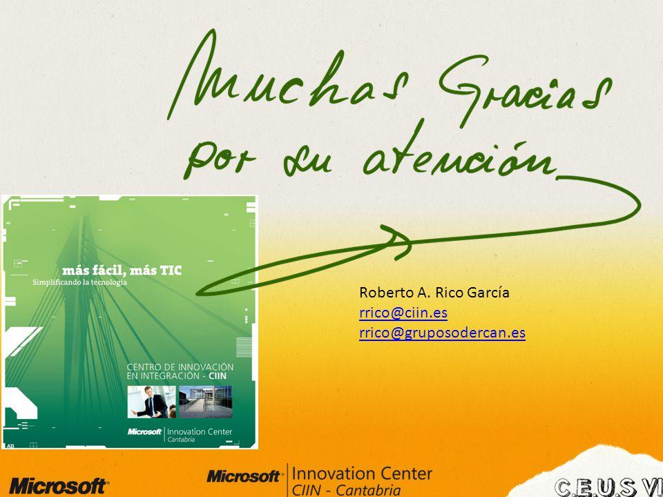 Roberto A. Rico García rrico@ciin.es rrico@gruposodercan.es