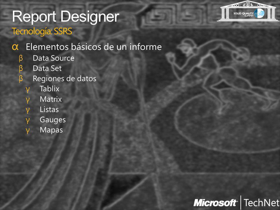 Report Designer Tecnología: SSRS