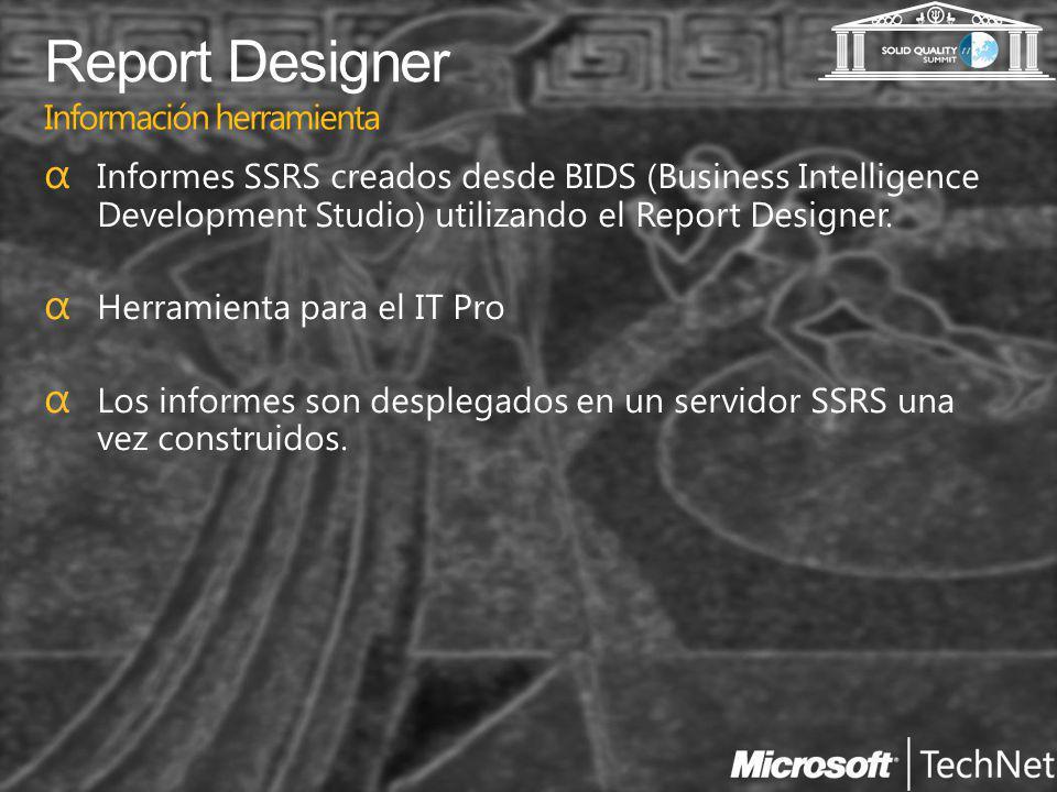 Report Designer Información herramienta