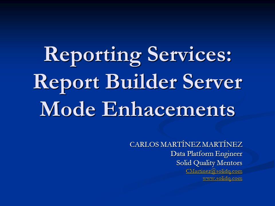 Petición en SQL Server 2008 Report Builder 2.0Servidor Informes Petición datos 1 2 Origen de datos ¿Está en caché de SQL Server.