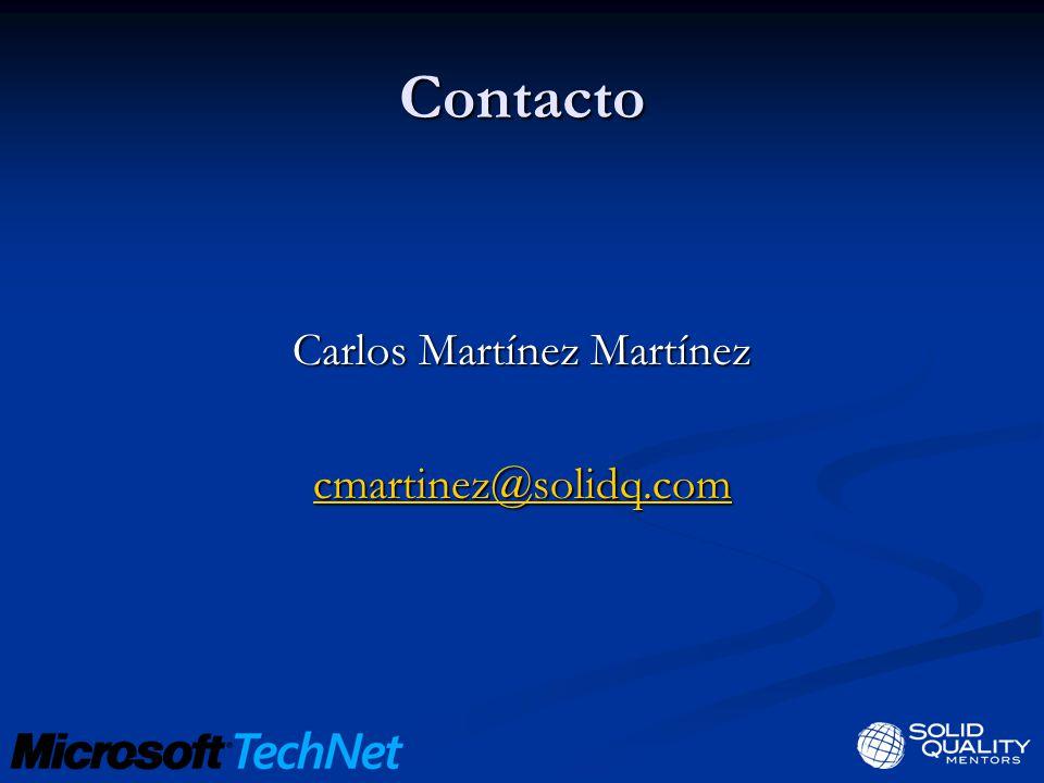 Contacto Carlos Martínez Martínez cmartinez@solidq.com