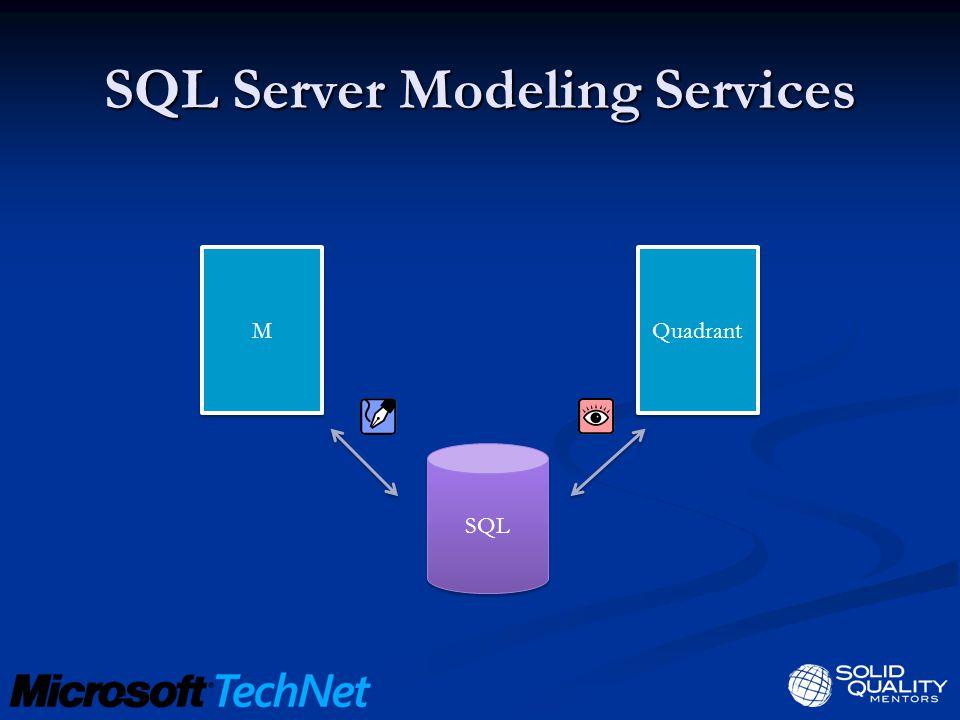 SQL Server Modeling Services SQL M M Quadrant