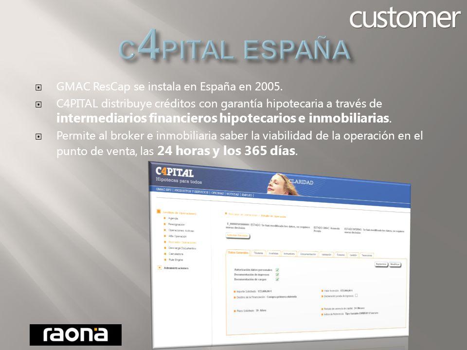 C4PITAL es la marca con que GMAC ResCap comercializa sus productos a través de intermediarios en España.
