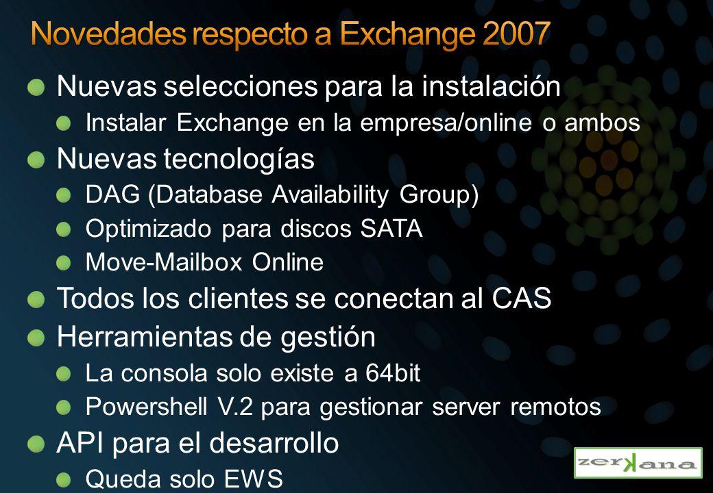Exchange Server 2010 introduce un wizard para los certificados Server Configuration node Nos asiste en todos los entornos en la cual necesitamos certificados Gestiona Peticiones de certificados Importación y habilitación de los servicios