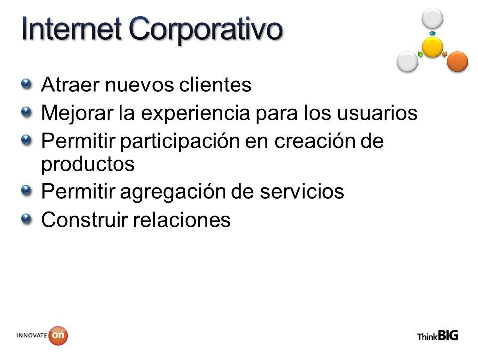 Atraer nuevos clientes Mejorar la experiencia para los usuarios Permitir participación en creación de productos Permitir agregación de servicios Const