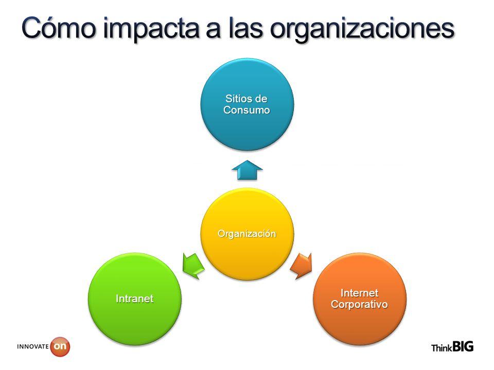 Organización Sitios de Consumo Internet Corporativo Intranet