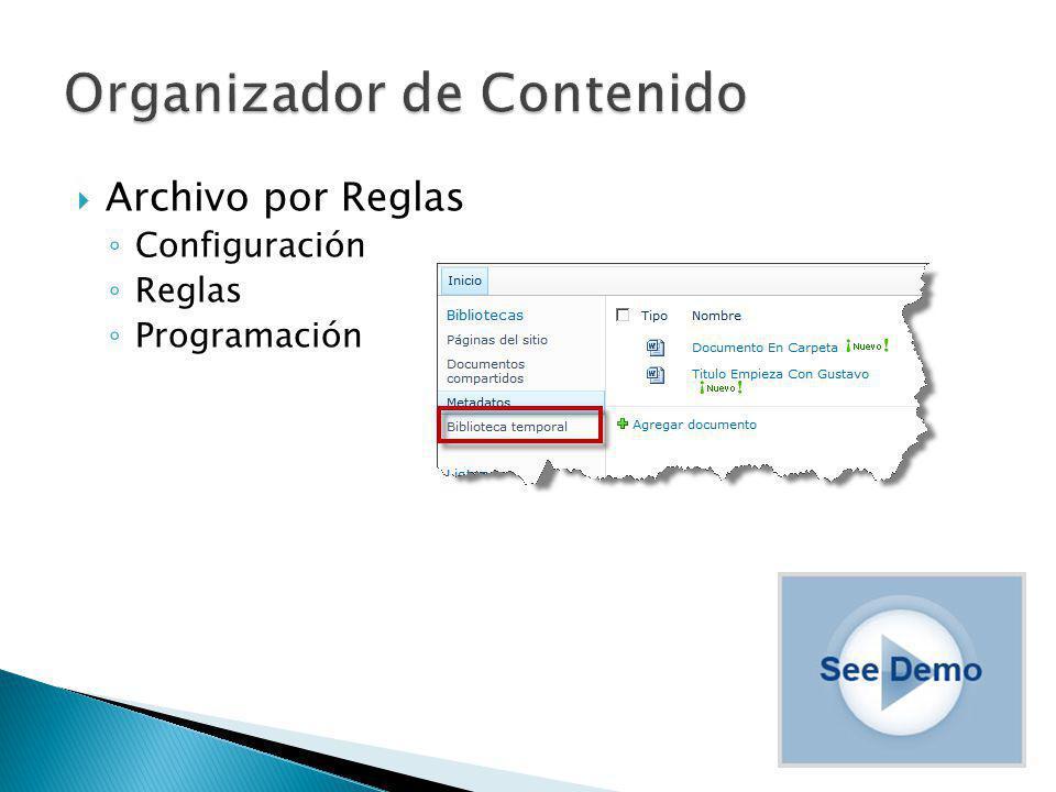 Archivo por Reglas Configuración Reglas Programación