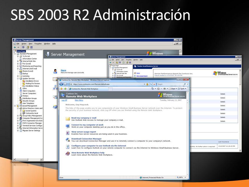 21 SBS 2003 R2 Administración