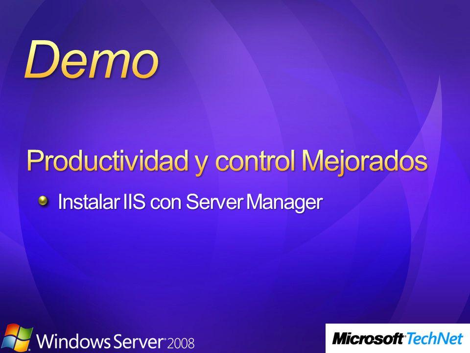 Instalar IIS con Server Manager
