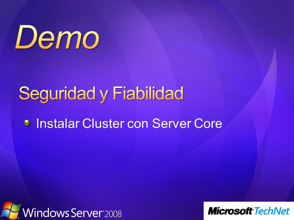 Instalar Cluster con Server Core