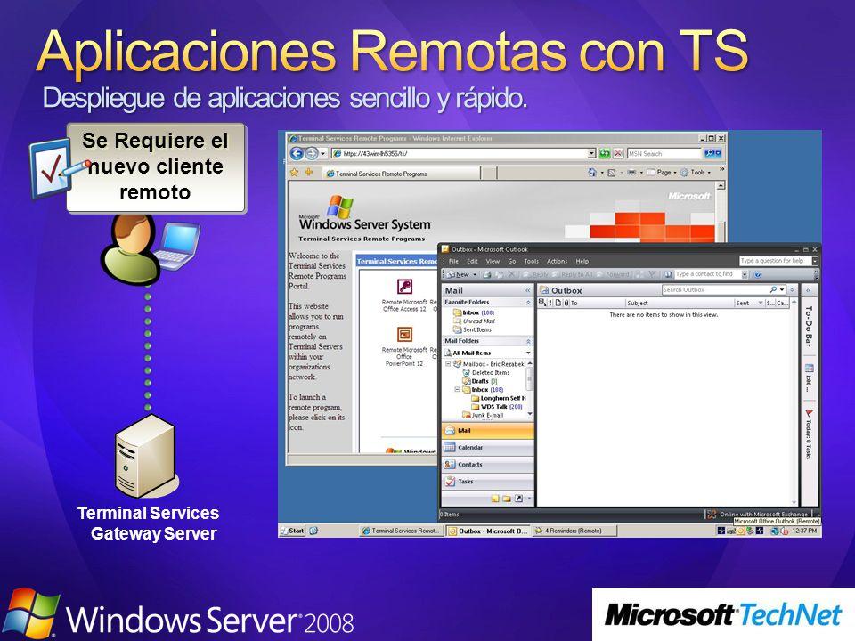 Terminal Services Gateway Server Se Requiere el nuevo cliente remoto
