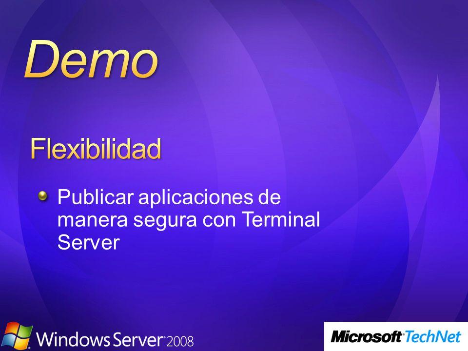 Publicar aplicaciones de manera segura con Terminal Server