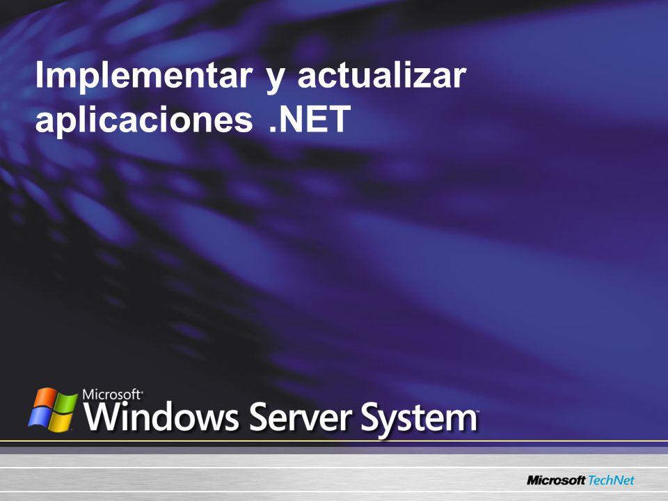 Implementar y actualizar aplicaciones.NET