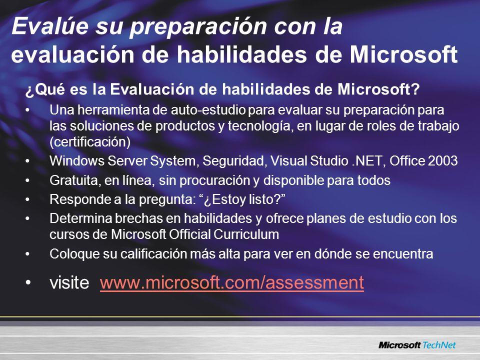 Evalúe su preparación con la evaluación de habilidades de Microsoft ¿Qué es la Evaluación de habilidades de Microsoft? Una herramienta de auto-estudio