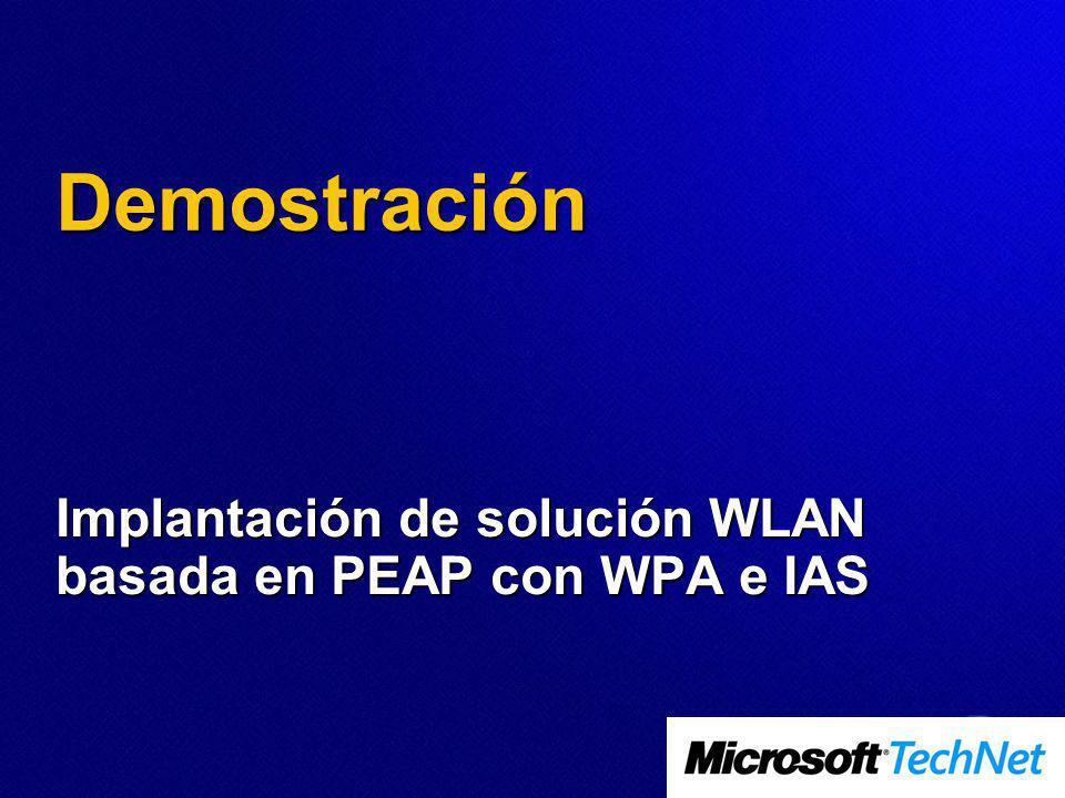 Demostración Implantación de solución WLAN basada en PEAP con WPA e IAS