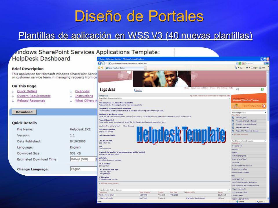 Diseño de Portales Plantillas de aplicación en WSS V3 (40 nuevas plantillas)