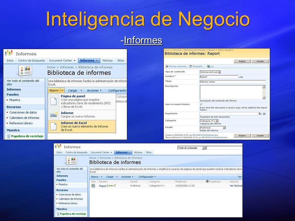 Inteligencia de Negocio -Informes