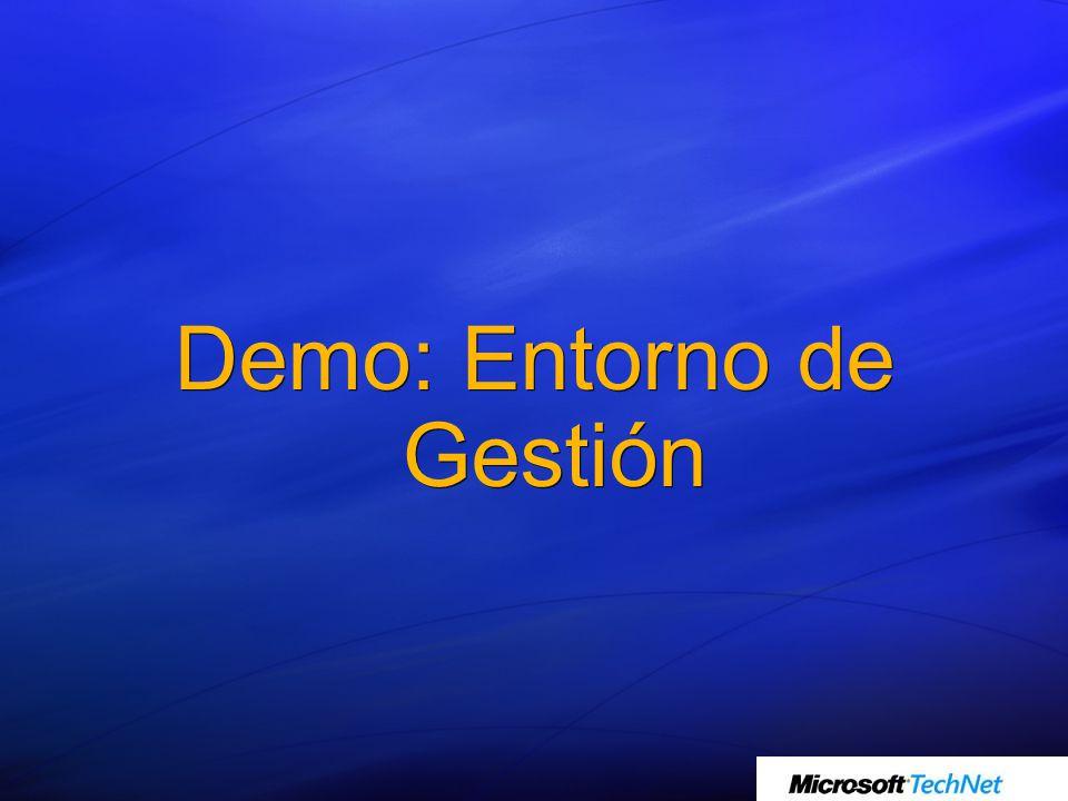 Demo: Entorno de Gestión