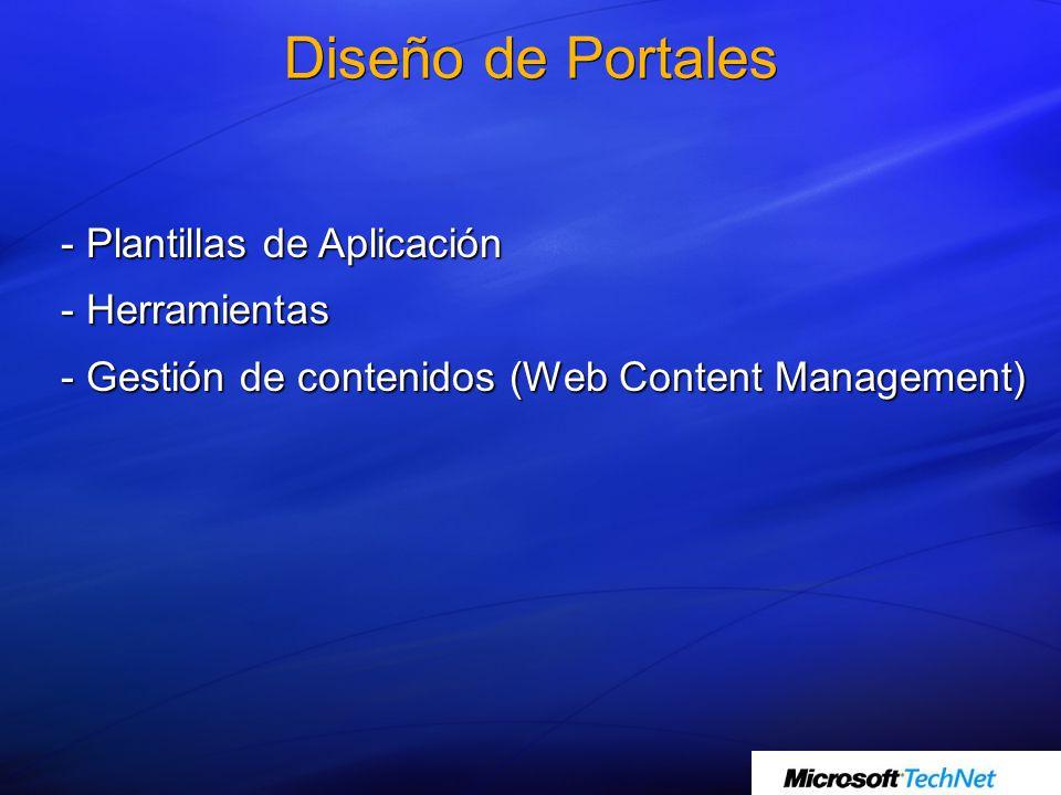 - Plantillas de Aplicación - Herramientas - Gestión de contenidos (Web Content Management)