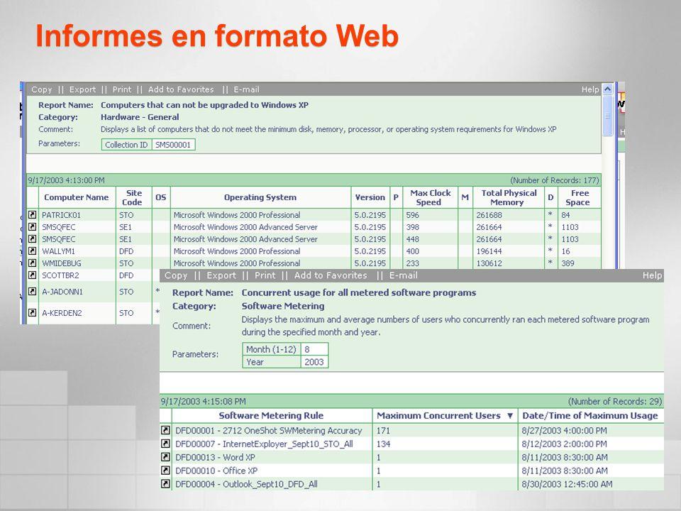 Informes en formato Web