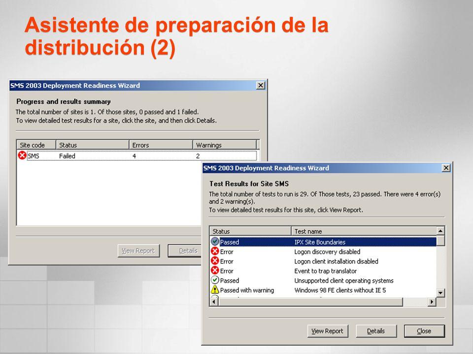 Asistente de preparación de la distribución (2)