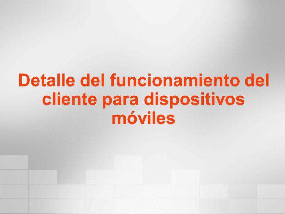 Detalle del funcionamiento del cliente para dispositivos móviles