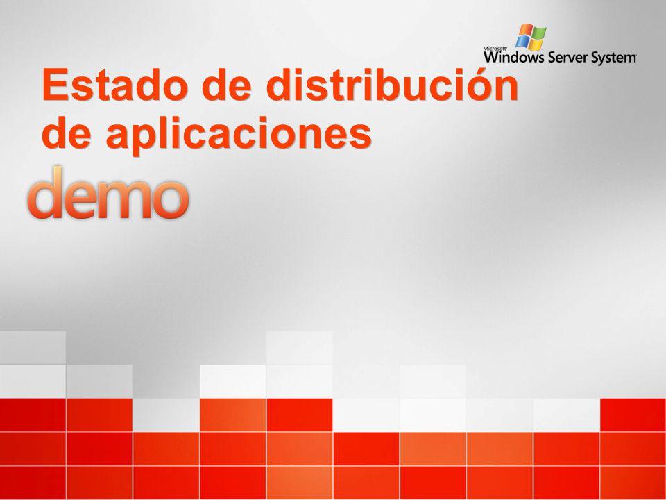Estado de distribución de aplicaciones