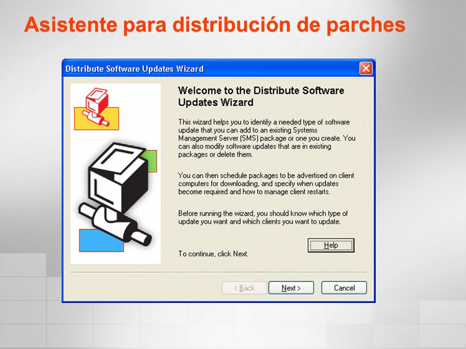 Asistente para distribución de parches