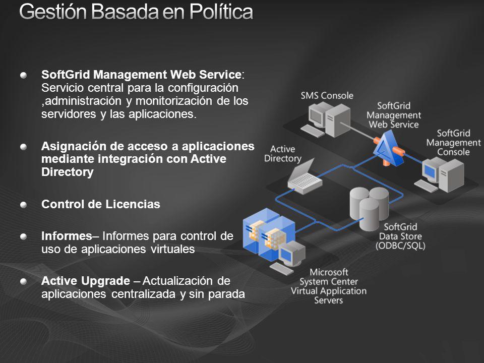 SoftGrid Management Web Service: Servicio central para la configuración,administración y monitorización de los servidores y las aplicaciones.