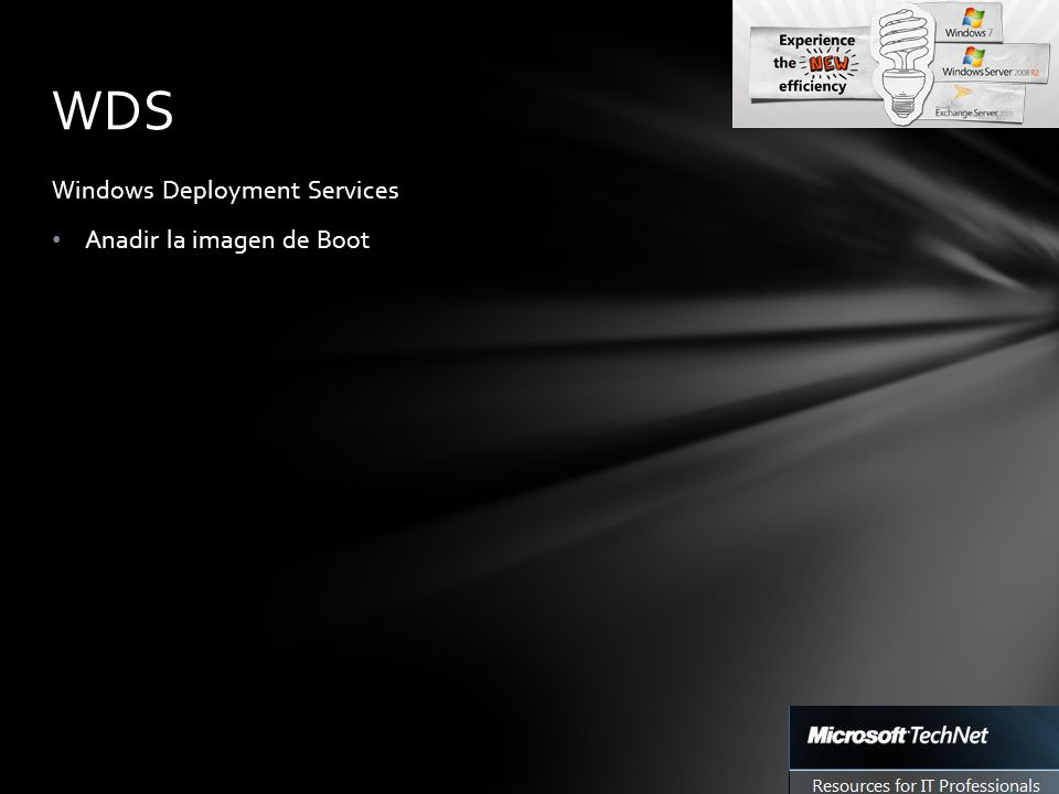 Windows Deployment Services Anadir la imagen de Boot WDS