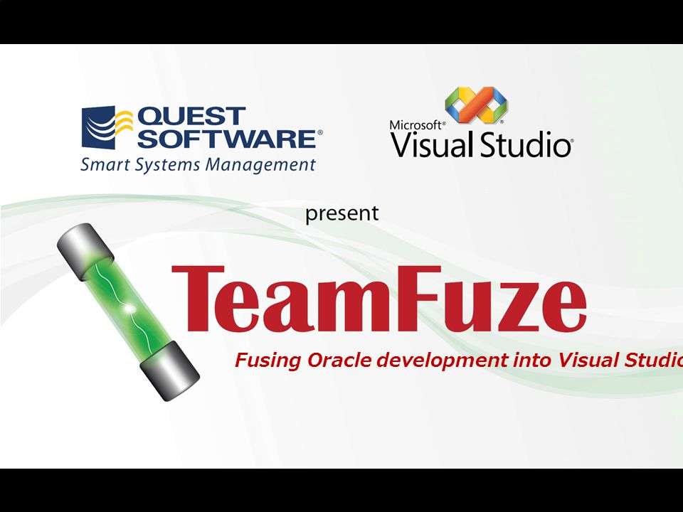 1 Fusing Oracle development into Visual Studio