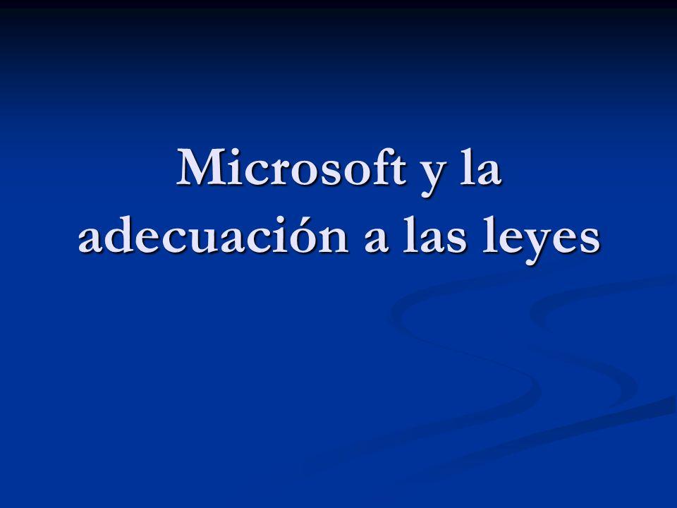 Microsoft y la adecuación a las leyes