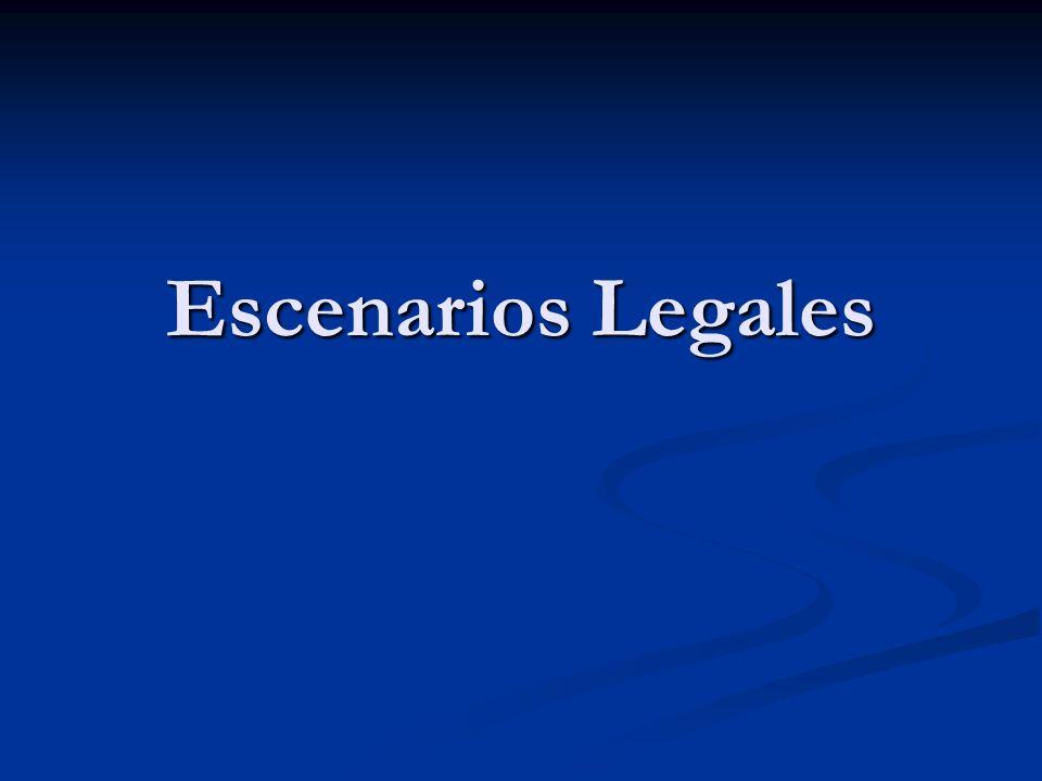 Escenarios Legales