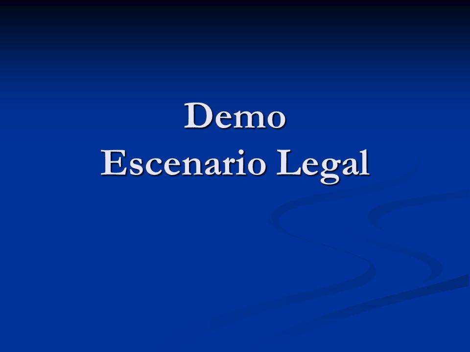 Demo Escenario Legal