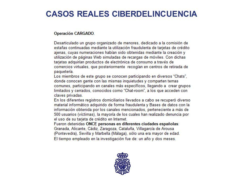 CASOS REALES CIBERDELINCUENCIA
