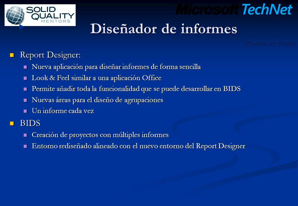 Diseñador de informes Report Designer: Report Designer: Nueva aplicación para diseñar informes de forma sencilla Nueva aplicación para diseñar informe