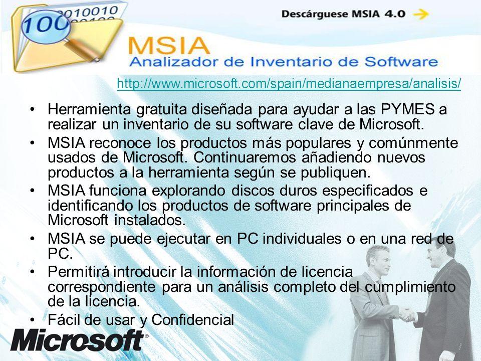 Herramienta gratuita diseñada para ayudar a las PYMES a realizar un inventario de su software clave de Microsoft.