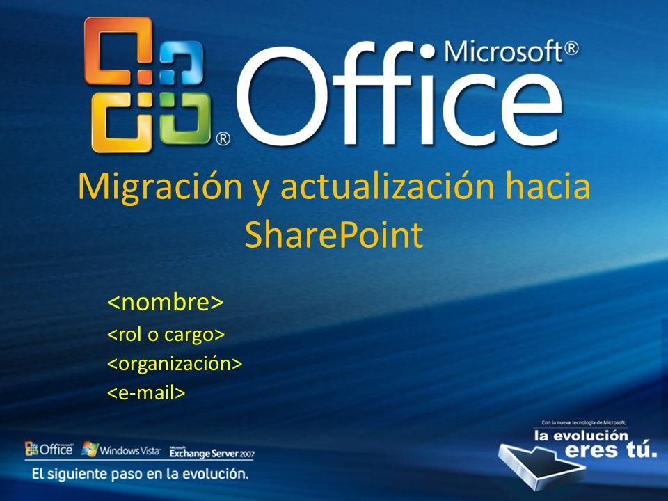 Migración y actualización hacia SharePoint