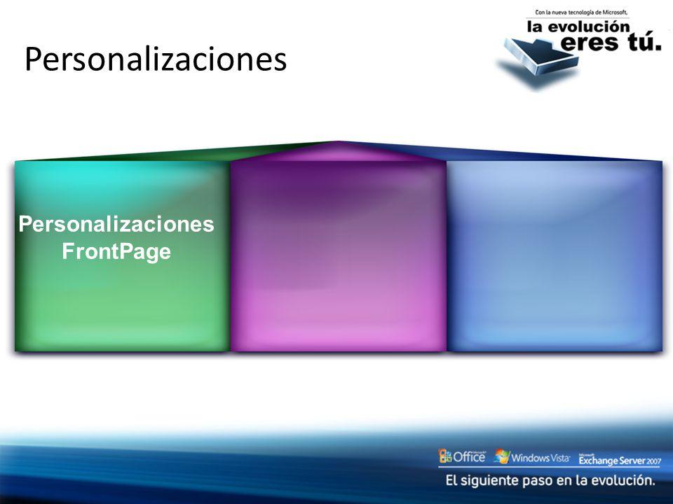 Personalizaciones Personalizaciones FrontPage