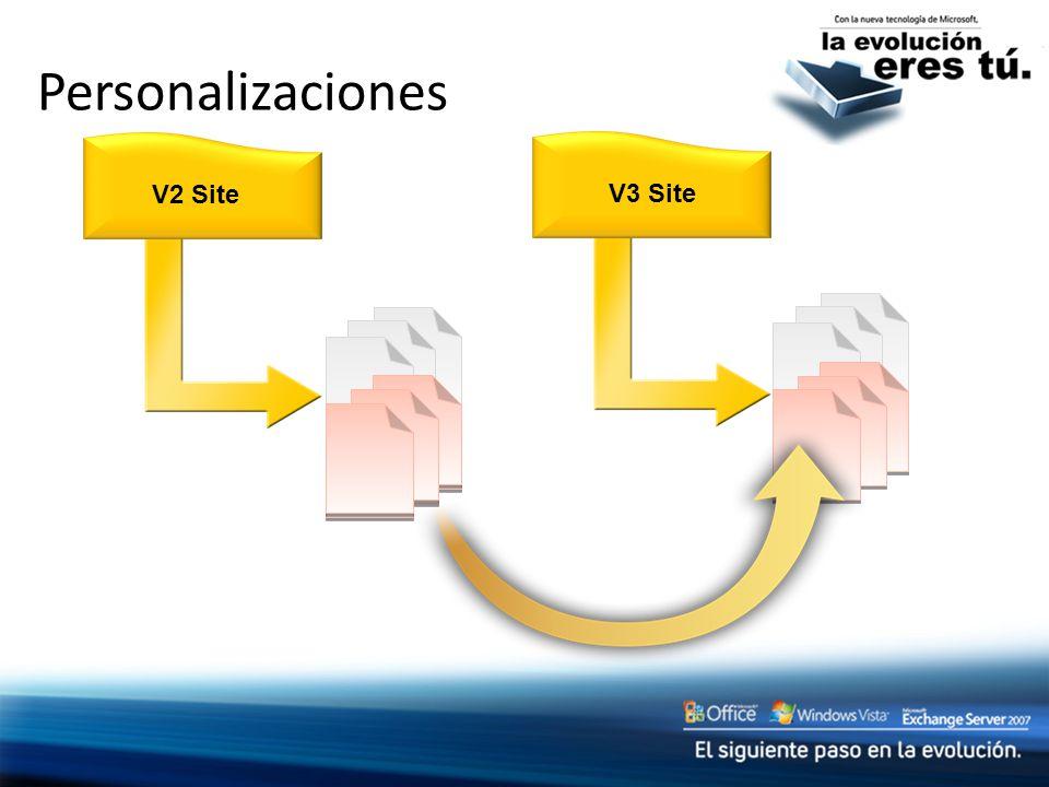 Personalizaciones V2 Site V3 Site