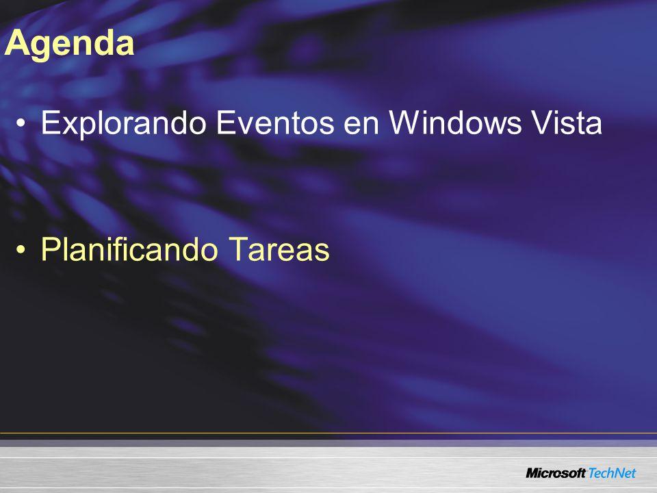 Explorando Eventos en Windows Vista Planificando Tareas Agenda