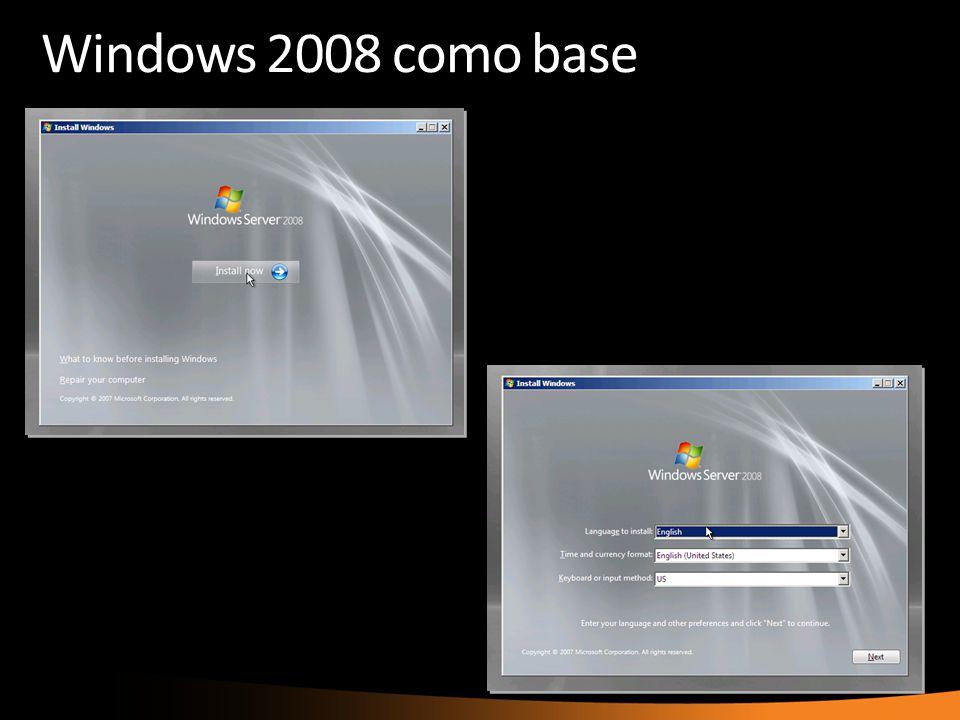 Windows 2008 como base