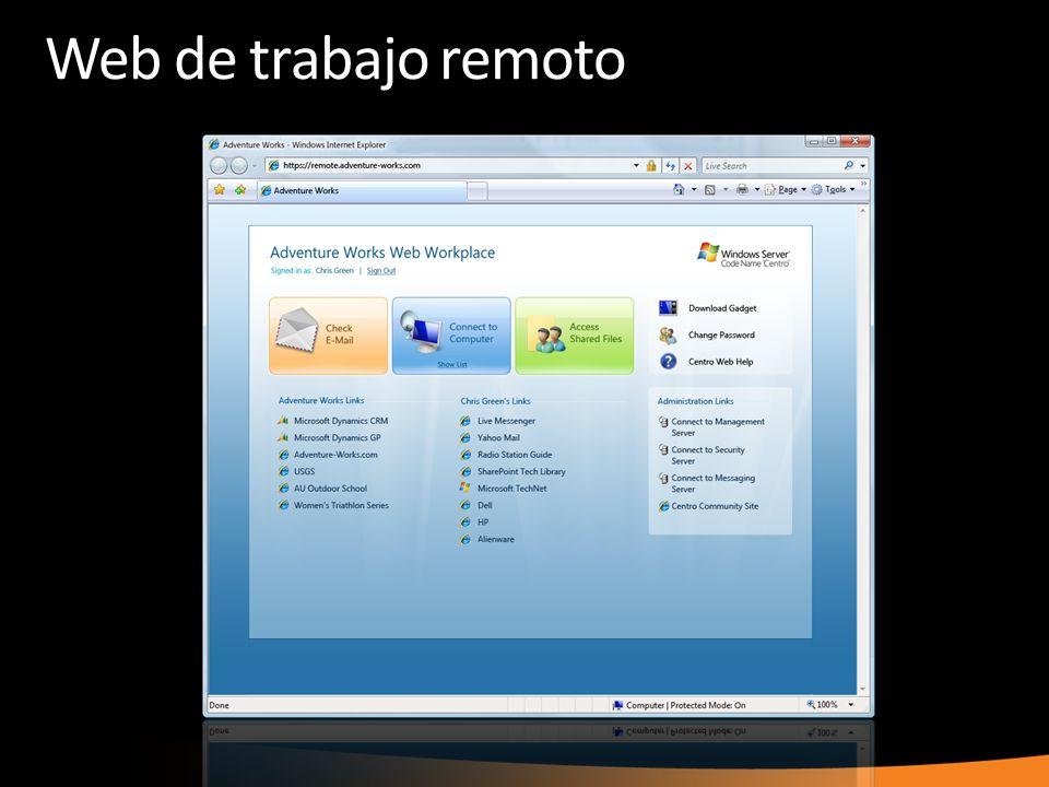 Web de trabajo remoto