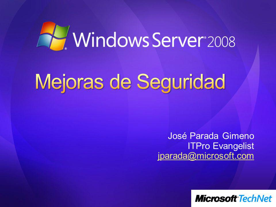 José Parada Gimeno ITPro Evangelist jparada@microsoft.com