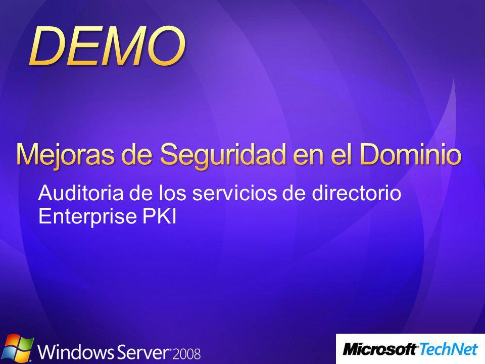 Auditoria de los servicios de directorio Enterprise PKI