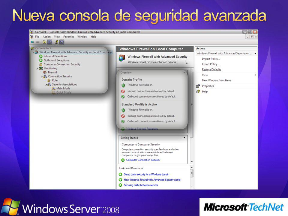 Windows XP SP2 / Server 2003 R2Windows Vista / Windows Server 2008 CuentaServiciosCuentaServicios LocalSystem Wireless Configuration System Event Notification Network Connections (netman) COM+ Event System NLA Rasauto Shell Hardware Detection Themes Telephony Windows Audio Error Reporting Workstation ICS RemoteAccess DHCP Client W32time Rasman browser 6to4 Help and support Task scheduler TrkWks Cryptographic Services Removable Storage WMI Perf Adapter Automatic updates WMI App Management Secondary Logon BITS LocalSystem Firewall Restricted WMI Perf Adapter Automatic updates Secondary Logon App Management Wireless Configuration LocalSystem BITS Themes Rasman TrkWks Error Reporting 6to4 Task scheduler RemoteAccess Rasauto WMI Network Service Fully Restricted DNS Client ICS DHCP Client browser Server W32time Network Service Network Restricted Cryptographic Services Telephony PolicyAgent Nlasvc Network Service DNS Client Local Service No Network Access System Event Notification Network Connections Shell Hardware Detection COM+ Event System Local Service SSDP WebClient TCP/IP NetBIOS helper Remote registry Local Service Fully Restricted Windows Audio TCP/IP NetBIOS helper WebClient SSDP Event Log Workstation Remote registry
