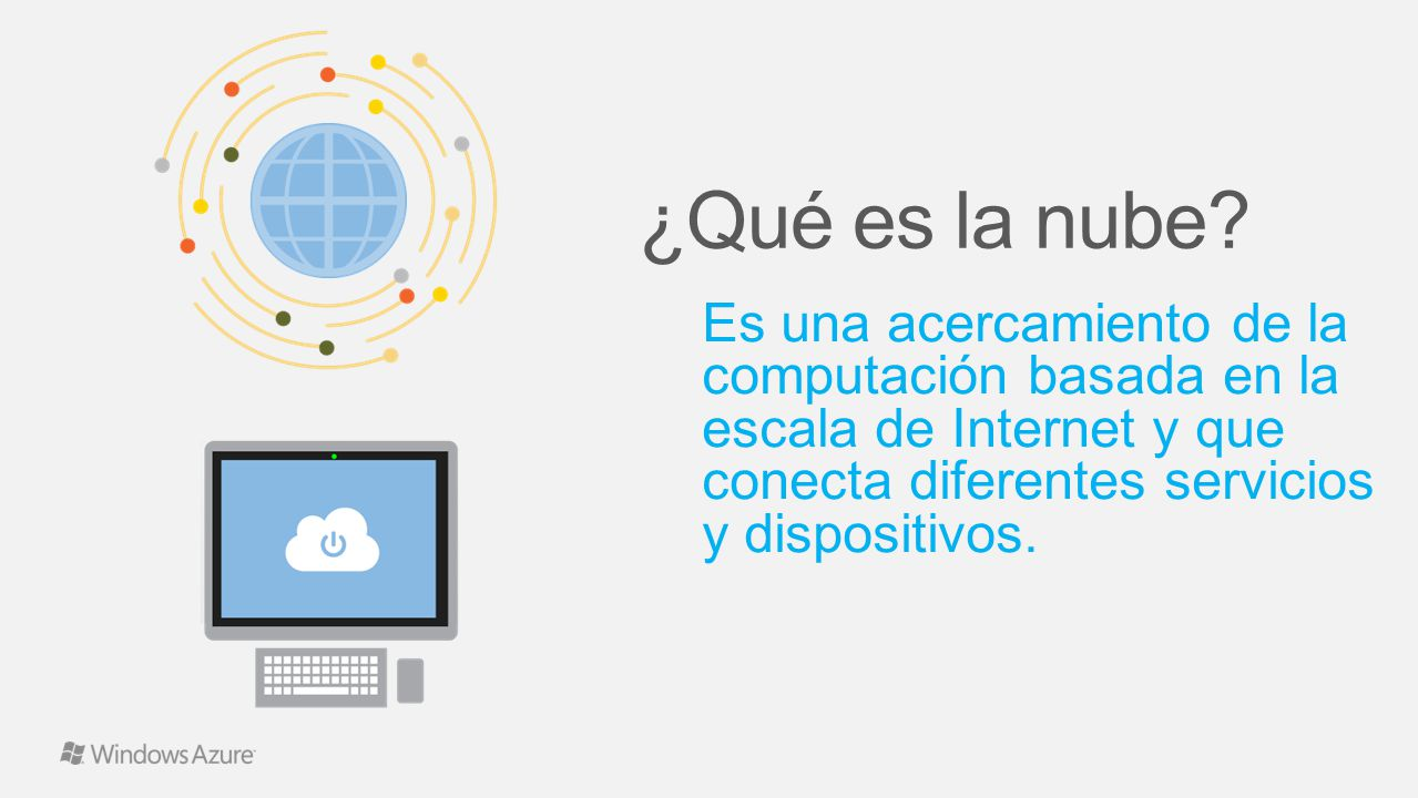 Es una acercamiento de la computación basada en la escala de Internet y que conecta diferentes servicios y dispositivos.