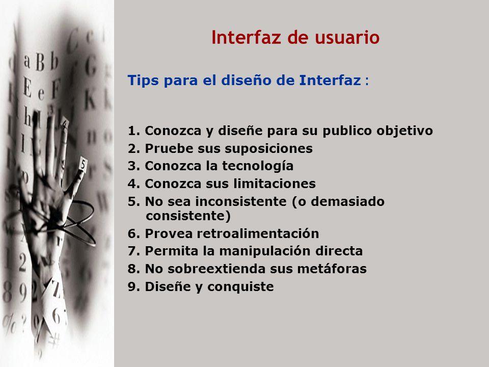 Interfaz de usuario Piense globalmente y actúe localmente 1.