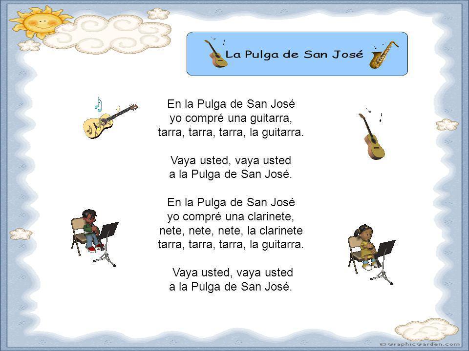 por Doug ShiversDoug Shivers En la Pulga de San José yo compré una guitarra, tarra, tarra, tarra, la guitarra. Vaya usted, vaya usted a la Pulga de Sa